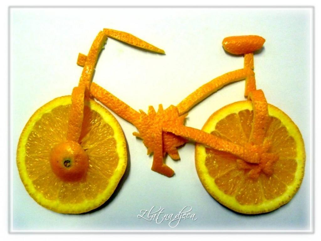 Bicikl od naranče i narančine kore