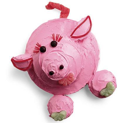 Torta roza svinjica