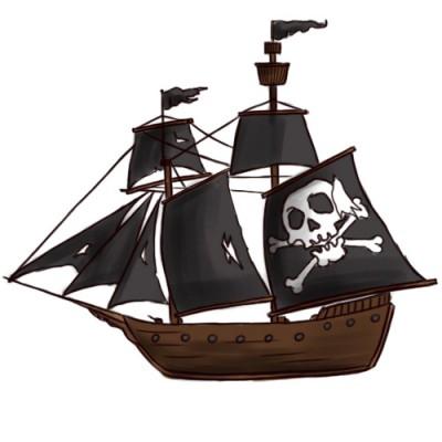 Kako nacrtati piratski brod