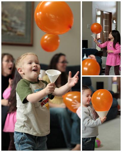 Uhvati balon u lijevak