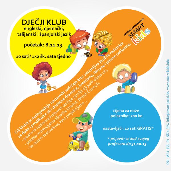 Dječji klub - jezične kreativne radionice za đake i preškolce