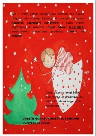 """Humanitarna predstava """"Darovi za Krispina"""" u Čarobnoj šumi."""