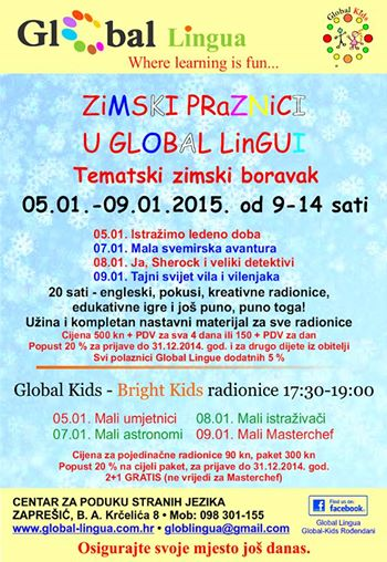 Global Kids - Bright Kids radionice u Global Lingui