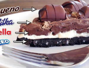 Milka Oreo Kinder Bueno Nutella Cheesecake