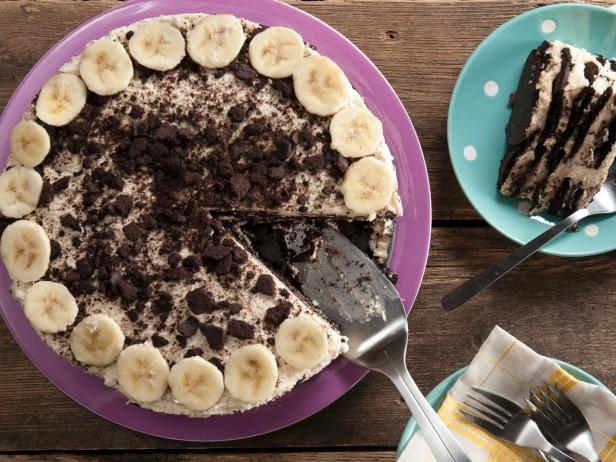 Sladoled torta sa bananom, maslacem od kikirikija i čokolade