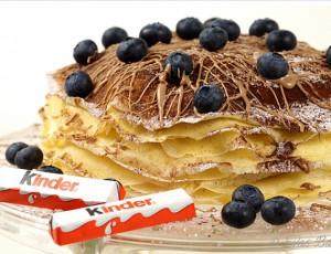 Torta sa KINDER čokoladom i bananama