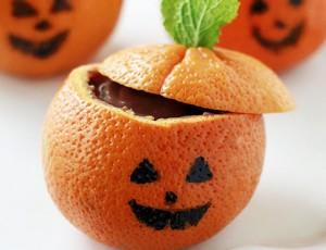 Halloween šalice s pudingom