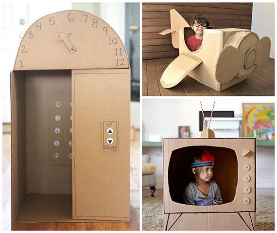 Igračke za djecu od kartonskih kutija