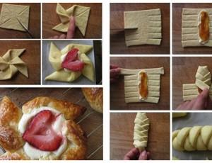 Napravite zanimljive oblike od lisnatog tijesta