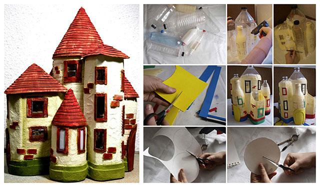 Napravite dvorac od plastičnih boca