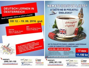 Prijavite se za ljetnu školu Global Lingue ili ljetno putovanje po Europi