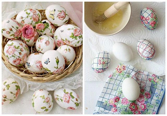 Dekorirajte jaja decoupage tehnikom
