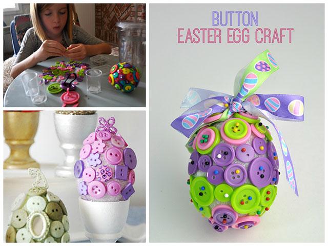 Uskršnja jaja s gumbićima