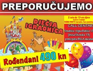 Rođendani SAMO 490 KN u Igraonici Bajka