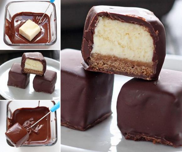 Cheesecake zalogaji