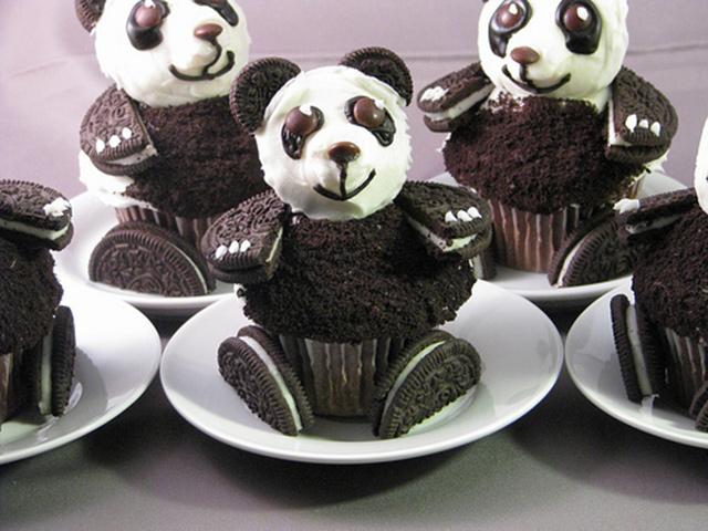 Panda muffini