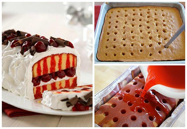 Rupičasti kolač s višnjama