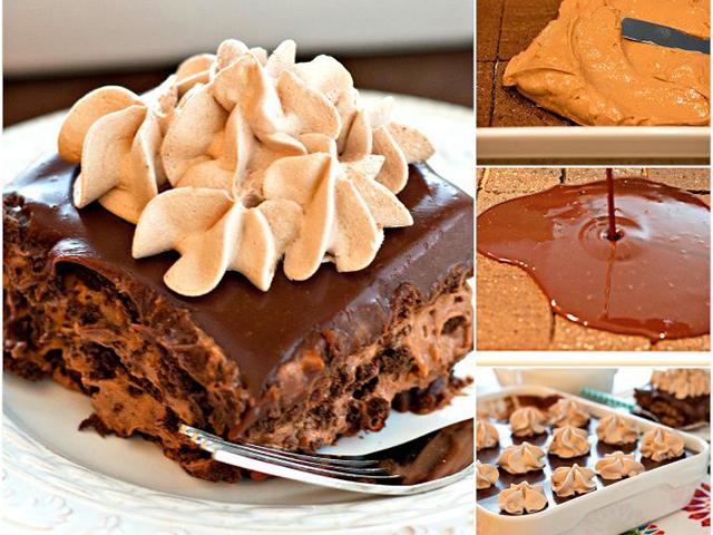 Čokoladni kolač sa slatkim vrhnjem