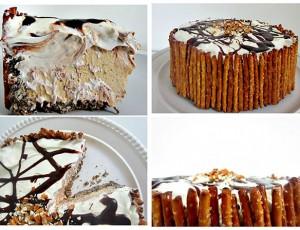 Kremasta torta s ogradicom od štapića