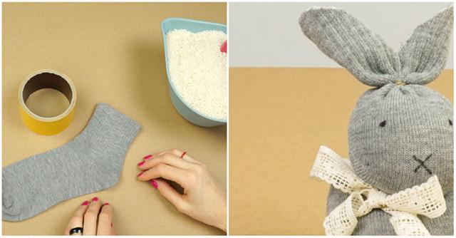 Uskrsni zeko od čarapica